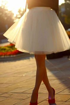 This spring, I dare to wear tulle skirts!