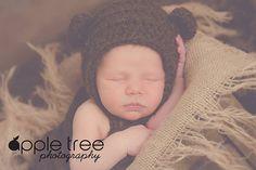 Ravelry: Woodland Fox or Bear Baby Bonnet pattern by Crochet by Jennifer