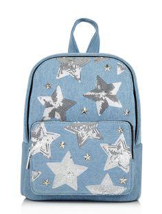 Skinnydip Denim Star Backpack