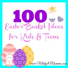 Frugal mom and wife 110 easter gift basket ideas for kids and 100 items to put in your kids easter basket negle Image collections