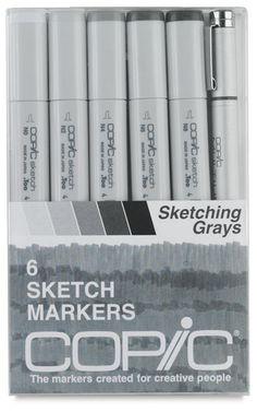 Sketching Grays, Set of 6