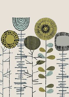 Cosecha de flores bordado, láminas de edición limitada grabado
