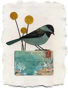 Bird by Geninne.  i love her sense of color!