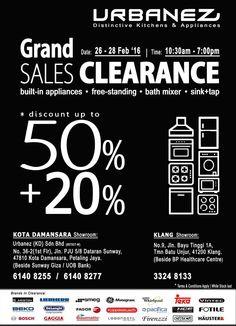 26-28 Feb 2016: Urbanez Grand SALE Clearance