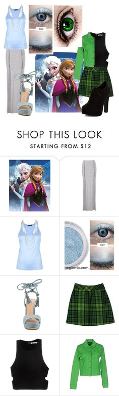 """""""sisters"""" by kenzie-ranee ❤ liked on Polyvore featuring Disney, Dsquared2, ALDO, Anna Sui, T By Alexander Wang, Plein Sud Jeanius and New Look"""