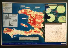 Mapping the origin of the cholera epidemic in Haiti.Poor sanitation at a U.N. Peacekeeping base is the cause. Peacekeepers from Nigeria were ill with cholera and it spread into the water. Damn.