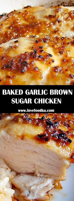 11 Easy Baked Chicken Recipes You Need to Try Out! Easy Chicken Recipes, Easy Healthy Recipes, Snack Recipes, Cooking Recipes, Garlic Recipes, Baked Chicken Crockpot, Recipes Dinner, Sauce For Baked Chicken, Baked Garlic Chicken
