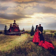 Holy WUT that red wedding dress that sky that everything