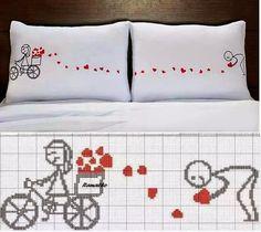 Brilliant Cross Stitch Embroidery Tips Ideas. Mesmerizing Cross Stitch Embroidery Tips Ideas. Cross Stitching, Cross Stitch Embroidery, Embroidery Patterns, Hand Embroidery, Cross Stitch Patterns, Cross Stitch Heart, Diy Pillows, Pillow Cases, Crossstitch