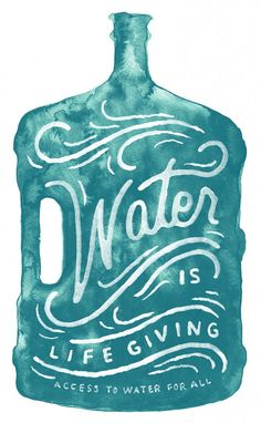 Water is Life Giving // Zachary Smith// poster handlettering Typography Letters, Graphic Design Typography, Lettering Design, Typography Served, Vintage Lettering, Typography Inspiration, Graphic Design Inspiration, Daily Inspiration, Brand Identity Design