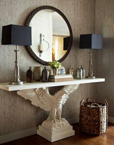 Saw this at Market and fell in love!  Eagle console table by Thom Filicia - Vanguard Furniture