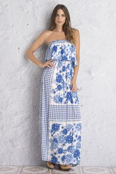 Maxi strapless dress Ref. 16K02 Find it at www.sahaswimwear.com