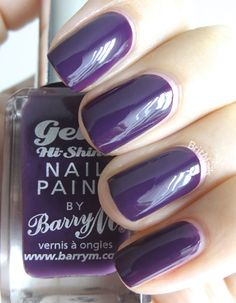 Plum / Blackberry - Possibly mislabelled    Brit Nails: Barry M Gelly Nail Paint Collection Swatches