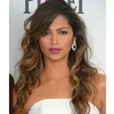 Camila Alves. Ombre. Hair color