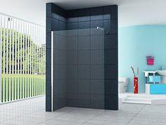10 millimetri Cabina doccia Dusseldorf 130 x 200 cm vetro trasparente / Walk-In Cabina doccia doccia parete doccia da parete divisoria. Euro 254.- Versand inkl.