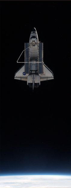 "Space shuttle ""Atlantis"" from ISS"