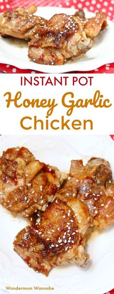 My kids love this Instant Pot Honey Garlic Chicken! So much cheaper and healthier than ordering Chinese takeout. My kids love this Instant Pot Honey Garlic Chicken! So much cheaper and healthier than ordering Chinese takeout. Instant Pot Pressure Cooker, Pressure Cooker Recipes, Pressure Cooking, Slow Cooker, Pressure Pot, Honey Garlic Chicken Thighs, Chinese Garlic Chicken, Ip Chicken, Chicken Salads