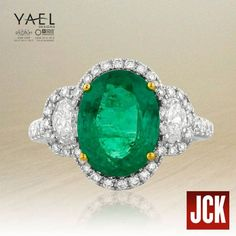 """Thrilled to see our #emerald ring getting love from JCK Publishing Group's in """"Should We Say I Do to Emerald Engagement Rings?"""" story!"""