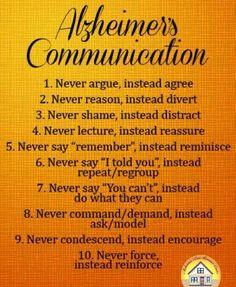 Alzeheimer's communication