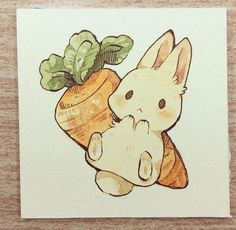 Cute bunny watercolor Related posts: Fire Flower Watercolor Art Print Nintendo Mario Bros Painting Videogame Nintendo Super Mario Geek Art Print Gamer Decor Videogame Art Expand your knowledge with watercolor … Cartoon Kunst, Anime Kunst, Cartoon Art, Anime Art, Cute Little Drawings, Cute Kawaii Drawings, Kawaii Art, Kawaii Disney, Kawaii Doodles