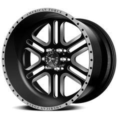 American Force Alpha SF6 Flat Black Custom Truck Wheels & Rims