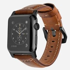 Designed to give your Apple Watch a classic, yet bold new look.  Made from minimally treated, vegetable tanned leather from one of America's oldest tanneries.  The leather is designed to beautifully patina with time, creating a handsome, rich leather strap with a look that is uniquely yours.            Horween leather from the USA       Fil Au Chinois beeswax linen thread       Custom stainless steel lugs and buckle      See all Apple Watch straps