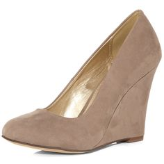 Dorothy Perkins Mink wedge court shoes  $55.00 (Additional 15% OFF if you sign up for the Dorothy Perkins Newsletter) ~ The Stilush Team