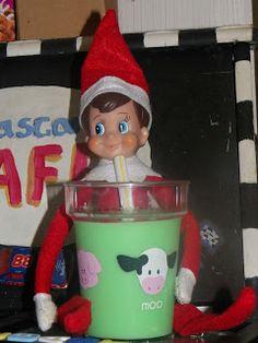 Day 4 w/Charlie  cute elf on the shelf idea