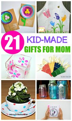 These Mother's Day crafts are all kid made and would make the perfect kid-made gifts for Mom that she will treasure for years to come.