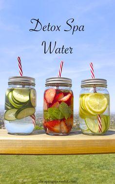 detox spa water strawberry mint lemon lime cucumber 30