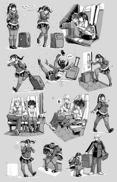 Nsio Pose Practice 7: Travelling Sayaka Tsuchimiya by Nsio.deviantart.com on @DeviantArt