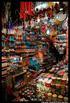 GRAND BAZAAR - Istanbul this is the Bazaar the The Tea Party song The Bazaar is referring to, one of my favorite songs! http://magnificentturkey.com #Istanbul #Turkey #Türkiye