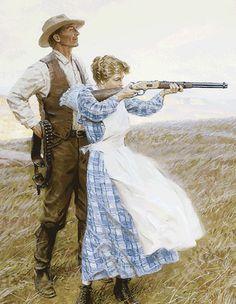 "ritasv: "" 'Target Practice' by Tom Lovell "" Art Arte Western Cowboy Art, West Art, Photo, Vintage Art, Norman Rockwell, Art, Pictures, Rockwell"