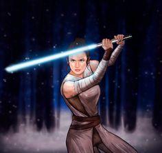 Rey - Star Wars: The Force Awakens by sofimartinez on DeviantArt Star Wars Love, Rey Star Wars, Star Wars Fan Art, Daisy Ridley, Star Wars Characters, Star Wars Episodes, Star Wars Wallpaper Iphone, Best Hero, Movies