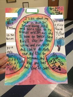 "Self-Esteem Portraits...great for ages 8-99! Based on a post on ""Art Class Works Blog."""