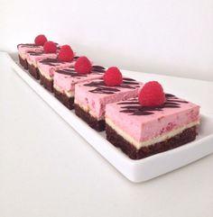Brownie/Cheesecake med Hindbær