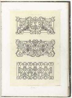 Drie balkons, Anonymous, Etablissement Lithographique De Charles Claesen, c. 1866 - c. 1900
