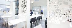Alberga Business Parkin ravintolassa on ilmavan näyttäviä tilanjakajia Health Promotion, Be A Nice Human, Happy Life, Life Is Good, Concept, Interior Ideas, Offices, Business, The Happy Life
