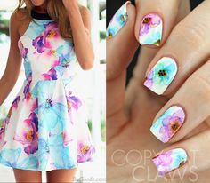 Copycat Claws: The Digit-al Dozen does Fashion - Floral Dress