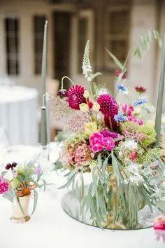simple wildflower wedding centrepieces Wedding Centrepieces, Floral Wedding Decorations, Floral Centerpieces, Bridesmaid Bouquet, Wedding Bouquets, Wedding Flowers, Wedding Table, Our Wedding, Perfect Wedding