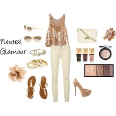 VEGAS outfit!!---Neutral Glamour, created by jmcallahan on Polyvore