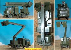 LKW NVA IFA-W50 mit Montagemast (s.e.s. 14 1056 82) H0