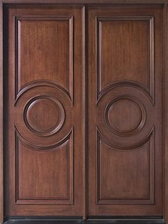 """Mahogany Solid Wood Front Entry Door - Double don't really care for the """"style"""" but need to check out doorsforbuilders.com"""