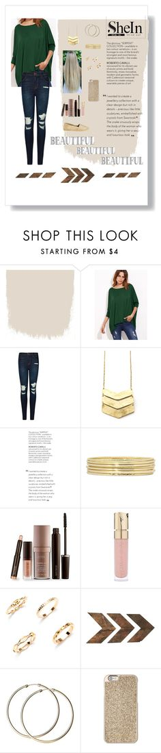 """""""Green SheIn T-shirt Contest"""" by alexbeamguard ❤ liked on Polyvore featuring J Brand, Liz Claiborne, Laura Mercier, Smith & Cult, WALL, Michael Kors, Kaanas, contest and shein"""