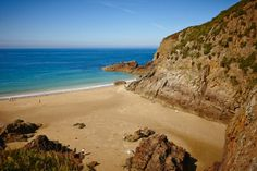 The beautiful Plemont Bay, a local favorite and from this picture you can see why! Bailiwick Of Jersey, Jersey Channel Islands, Uk Trip, Sandy Beaches, Places Ive Been, Britain, United Kingdom, Coast, Spaces