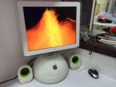 iMac G4 playing music in the corner Imac G4, Refurbished Macbook Pro, Thunderbolt Display, Tech Branding, Gold Apple Watch, Fire Tablet, New Ipad Pro, Retro Arcade, Memory Module