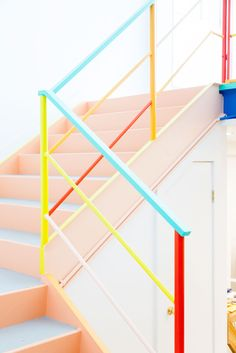 A Colorful Stairwell