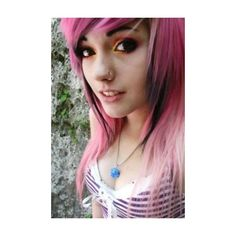 Emo Haircuts For Girls With Medium Hair ❤ liked on Polyvore featuring hair, people, girls, hair style and hairstyles