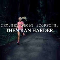 I love to pick it up at the end of a run! I see the end and my mind says stop...and I go harder instead! feels sooo good!