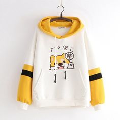 White color Shiba Inu patch embroidery hoodie sweater coat sold by Yourfashionsandcute. Shop more products from Yourfashionsandcute on Storenvy, the home of independent small businesses all over the world. Outfits Kawaii, Kawaii Clothes, Cute Outfits, Sweater Coats, Sweater Hoodie, Sweaters, Dog Hoodie, Cute Hoodie, Shiba Inu
